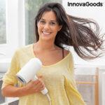 Asciugacapelli agli Ioni Pieghevole con Accessori Ventio InnovaGoods 1600W Bianco/grigio