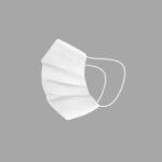 Mascherina Igienica in Stoffa Riutilizzabile Per bambini Bianco