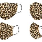 Mascherina Igienica in Stoffa Riutilizzabile Adulto Leopardo