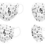 Mascherina Igienica in Stoffa Riutilizzabile Music Adulto